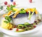 Gemüseschlangensalat mit Bismarckhering