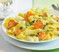 Pasta mit Spargel und Lachs